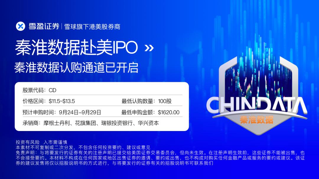 新股 | 秦淮数据IPO认购通道开启!